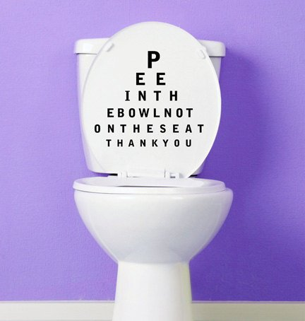 Pee in The Bowl Toilet Decal-Bathroom Toilet Seat Vinyl Sticker Sign, Reminder for Him, Put Me Down Toilet Decal, Put Down Decal Deals Xe23
