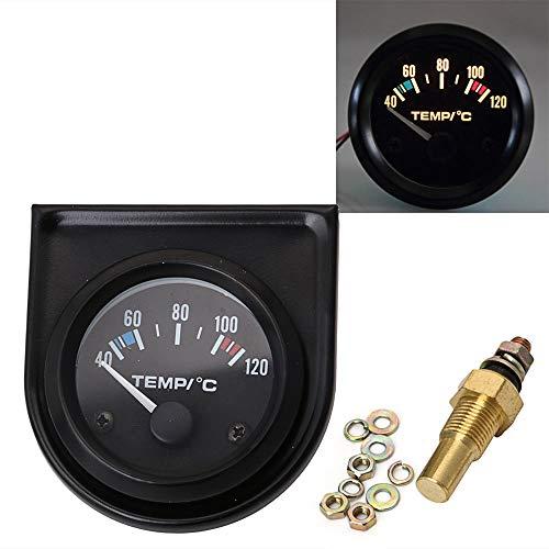 """GAOHOU Universal 2""""/ 52mm 40-120 ℃ Weiße LED Auto Wassertemperaturanzeige Meter Dials Kit"""
