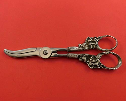 Fantastic Prices! Sterling Silver Grape Shears Heavy Cast with Grapes Motif 6 1/2