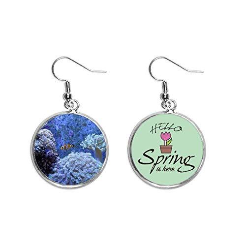 Ocean Coral Science Payaso Naturaleza Imagen Decoración Cuelga Temporada Primavera Pendiente Joyería