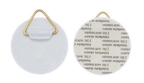 Glorex 6 1716 700 - Supporto per piatti da parete, autoadesivo, ca. 40 mm, 4 pezzi, portata ca. 500 g, per appendere facilmente i piatti