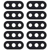 Tangyongjiao Piezas de Repuesto para teléfonos celulares Cubierta de Lente de cámara Trasera de 10 PCS para Xiaomi Redmi 6 Pro/MI A2 Lite