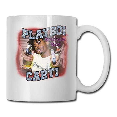 AOOEDM Taza de café divertida de 11 onzas, Playboi Poke It Out-Carti Cups, cumpleaños único para mujeres, hombres