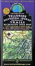 Telluride - Silverton - Ouray Colorado Trails Recreation Topo Map