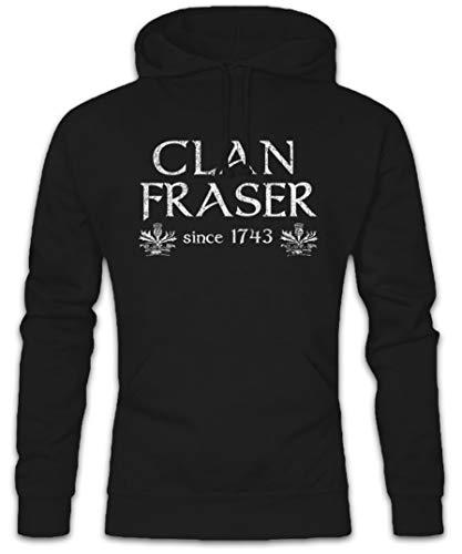 Urban Backwoods Clan Fraser Hoodie Kapuzenpullover Sweatshirt Schwarz Größe XL