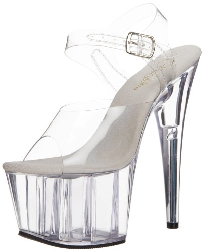 Pleaser Ado708/C/M, Women Platform Pumps, Transparent (Clear), 4 UK (37 EU)