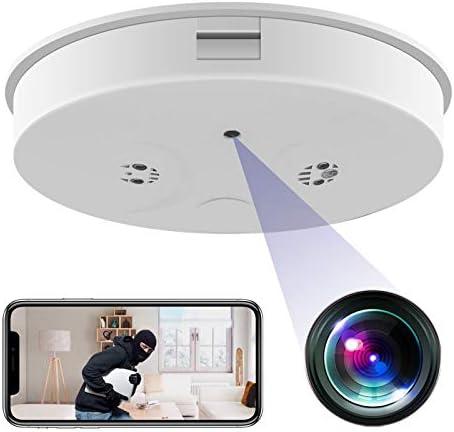 KAMRE WiFi Smoke Detector Camera HD 1080P Wireless Mini Security Camera Night Vision Motion product image