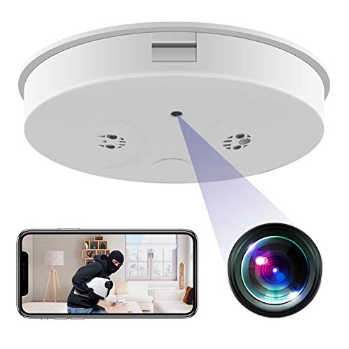KAMRE WiFi Hidden Smoke Detector Camera, HD 1080P Wireless Mini Security Spy Camera Night Vision Motion Detection Video Recorder Real-Time View Nanny Cam