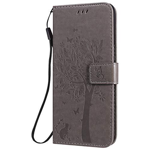 Hülle für LG K41S / K51S Hülle Handyhülle [Standfunktion] [Kartenfach] [Magnetverschluss] Schutzhülle lederhülle klapphülle für LG K51S / K41S - DEKT021388 Grau