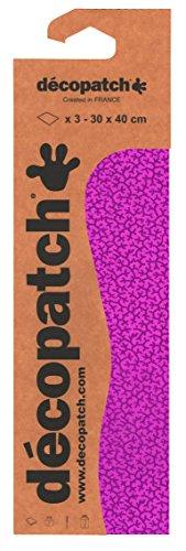 Decopatch papier nr. 710 (roze vlechtwerk, 395 x 298 mm) 3-pack