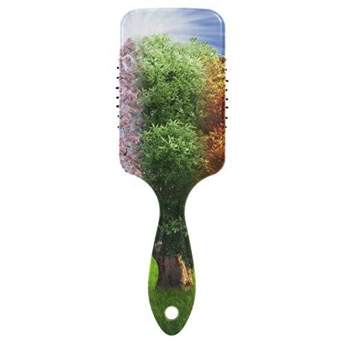 LUPINZ Kissen-Haarbürste, magischer 4-Jahreszeitenbaum, statischfrei, mit Griff für tägliche Haarpflege, Styling & Ausbürsten