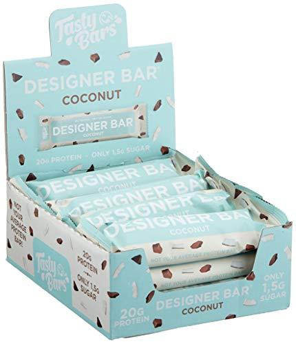 ESN Tasty Bars, Designer Bar Box, Coconut, 12 Riegel, 720 g