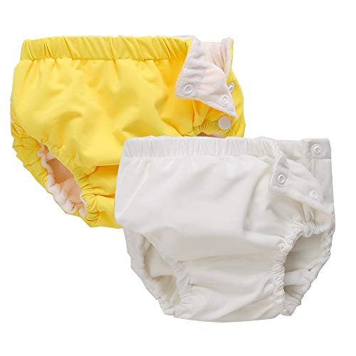 IIjnUhb Swim Diapers Baby Reusable 2 Pack ,Washable Pants for 0-3 Years Boys Girls Swimming Lesson Shower Gifts (12-18 Months)