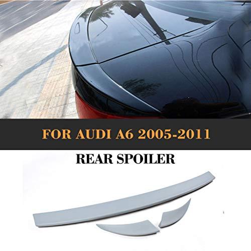 Car Negro Trasero Spoiler para Audi A6 C6 2005 2006 2007 2008...