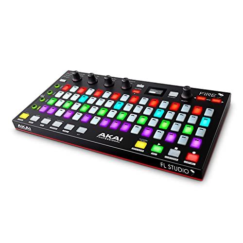 AKAI Professional FIRE con paquete Software - Controlador USB MIDI para FL Studio con matriz 4x16 de clips y drum pads RGB y Software FL Studio Fruity Edition