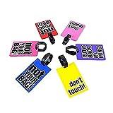 Etiquetas de equipaje de PVC para maletas – Entrega al azar (3 piezas)