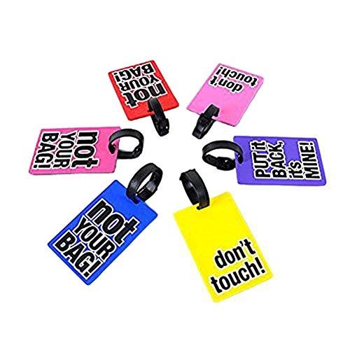 EQLEF® Set di 3 Etichette PVC Valigia etichette per il bagaglio- Consegna casuale (3 pezzi)