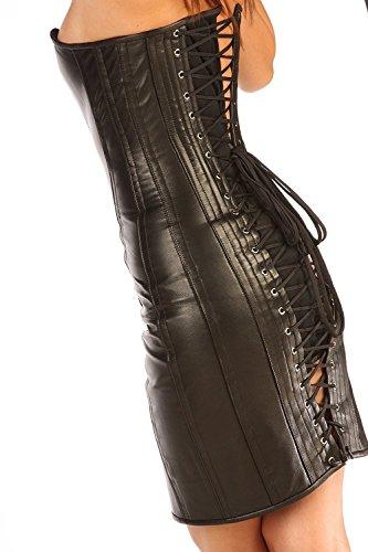"Classic Style Steel Boned Leather Corset Dress CD1 UK (32"")"