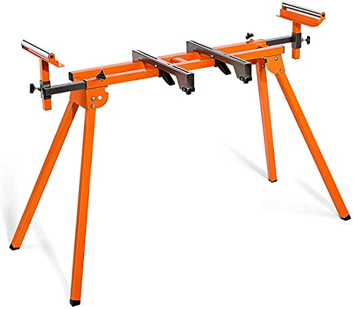 Miter Saw Stand with Durable Iron Skeleton frame, 21.6lbs Lightweight, 76-4/5