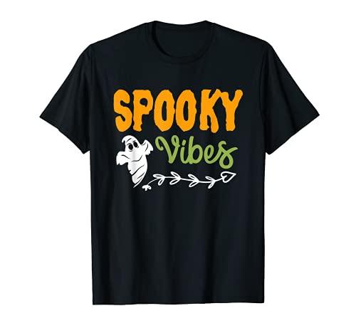 Camiseta fantasma Spooky Vibes Halloween Party Tee Fantasma Disfraz Camiseta
