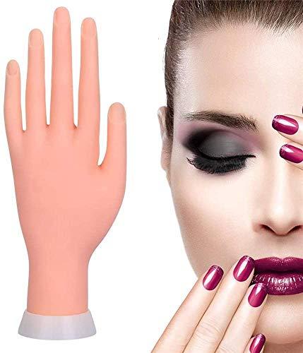 Mano practicas uñas acrilicas, Mano uñas practica suaves y flexibles, Mano de practicas de uñas para formación de manicura