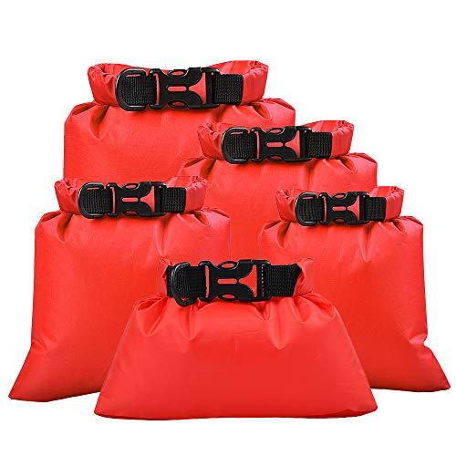 Lixada 5/6 Bolsas de Almacenamiento Impermeables Al Aire Libre para Acampar/Navegar, Bolsas...