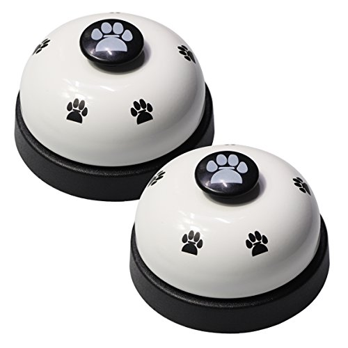 VIMOV Trainingsglocken für Haustiere, 2 Stück Hundeglocken zum Kommunikations- und Reinlichkeitstraining, Schwarz und Weiß (2 Pack)