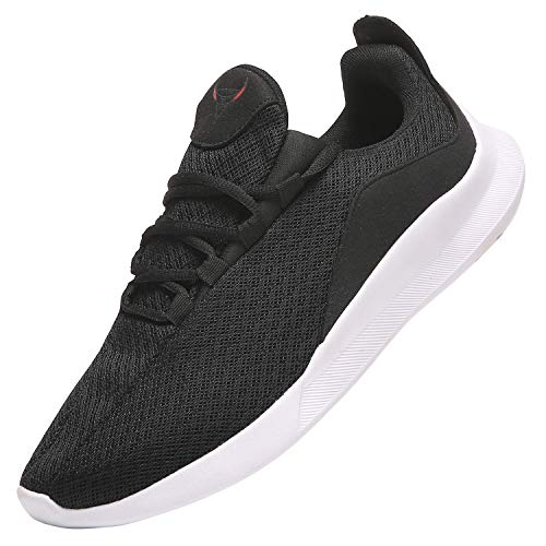PAGCURSU Scarpe da Ginnastica Tennis Casual Sportive Uomo Offerta, Leggere Sneakers Scarpa Running Uomo, Nero e Bianco, 46 EU