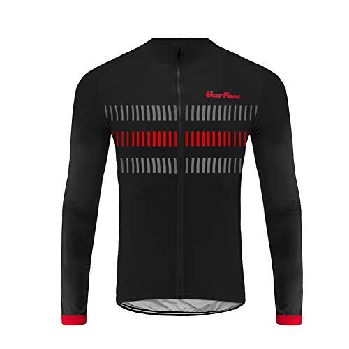 Uglyfrog 2019 MIX01 Maglia Ciclismo Maniche Lunghe Uomo Cycling Jersey per MTB/Montagna/Triathlon Abbigliamento