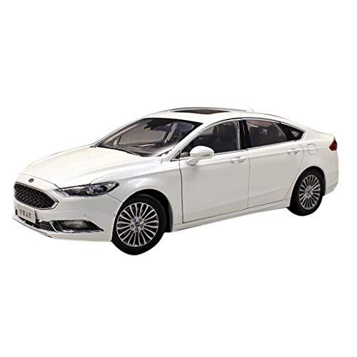 ZHWDD Modelo de Coche 1:18 2017 Ford Mondeo Nuevo Modelo de Coche de la aleación Exclusiva de colección Modelo (Color: Blanco) hefeide