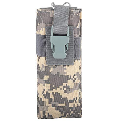 TANKE Bolsa de almacenamiento de nylon ligera para botella de agua militar para Molle Syste (ACU Camo) 20 x 8.5 x 6 cm