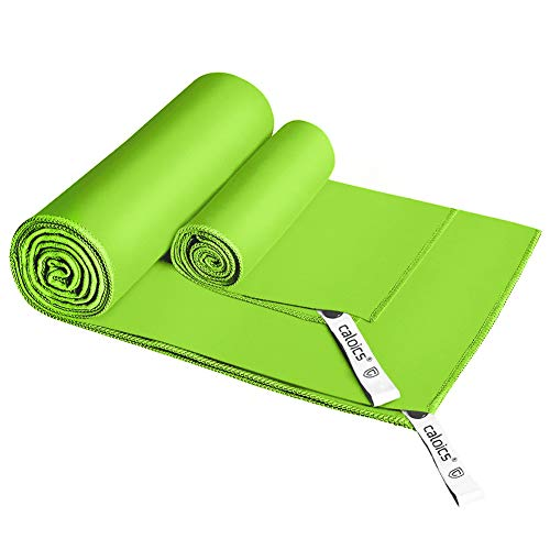 Mikrofaser Handtücher,Caloics® leichtes, schnell trocknendes saugfähiges&Antibakterielles Deodorant Mikrofaser-Badetuch 130 x 80 cm...