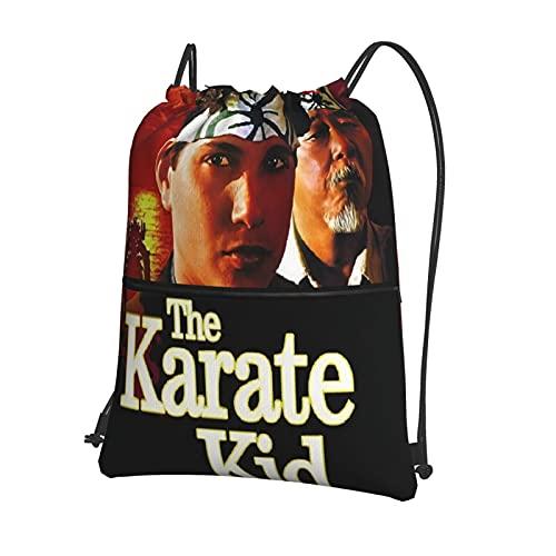 Yoohome The Karate Kid Turnbeutel wasserdichter Rucksack Sporttasche Sportbeutel für Damen Herren Mädchen Junge Kinder Sport Outdoor Gym Fitness Schwimmen