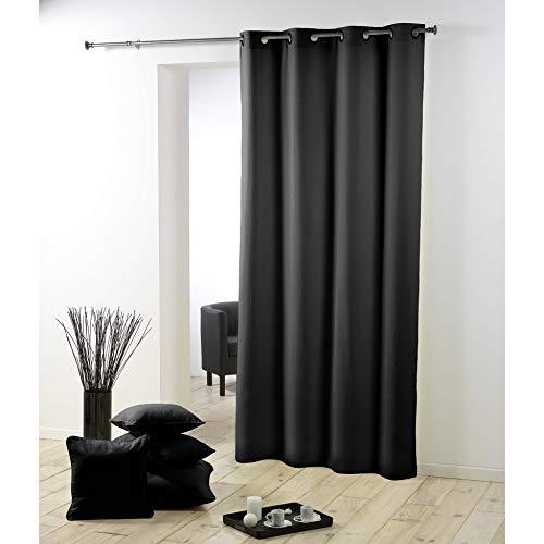 cortinas negras habitacion