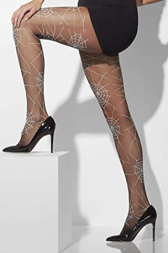 Smiffys Fever dames spinnennet panty's, één maat, zwart, 42743