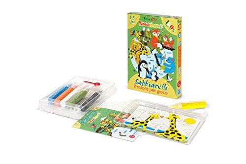 Sabbiarelli Sand-it for Fun - Kit Pianeta Cuccioli - Set Lavoretti Creativi: Crea e Colora con la Sabbia Gli Animaletti, Bambini 3+