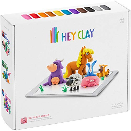 Hey Clay Animals - Colorful Kids Modeling Air-Dry Clay, 18...