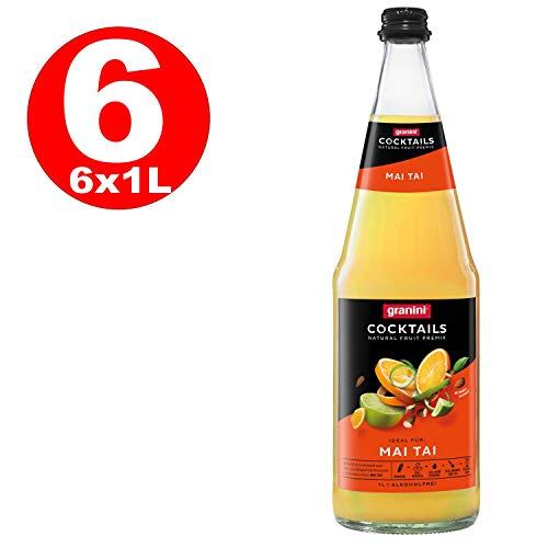 1 x 6 L Granini Mai Tai Cocktail 1 Liter Glasflaschen Premix MEHRWEG