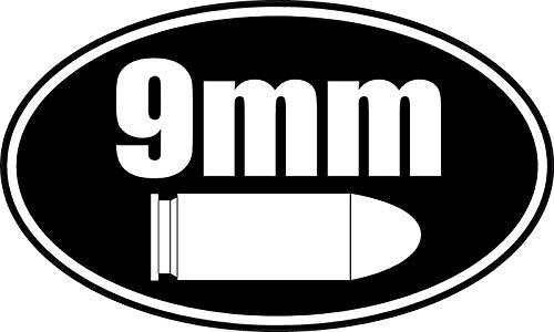 EricauBird Wandaufkleber, 9 mm, Luger Munition Box, Feuerwaffe, Vinyl, VAR-Zitat