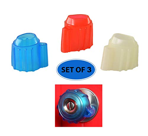 HOME-X Silicone Doorknob Bumper Grips, Childproof Door Handle Safety Covers, Set of 3