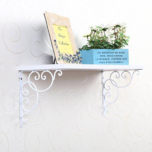 Pixnor Wandregal Wandboard 2ST wandmontierte Blumenart Regal Klammern Bücherregal für Bookrack-Calpboard-Set-Top-Box
