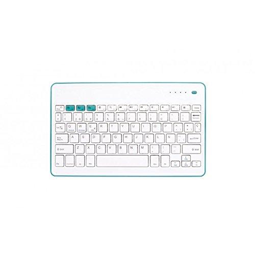 SilverHT 111936640199 - Teclado inalámbrico, color blanco y