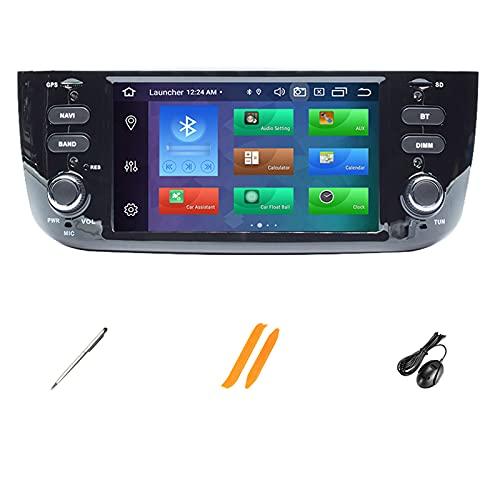 HAZYJT Android 10.0 [4gb+64gb] Radio Coche con Pantalla Táctil 2 DIN Compatible con Fiat/Linea/Punto EVO 2012-2015 Apoyo Mandos Volante con Bluetooth/GPS/CD DVD/USB/RCA