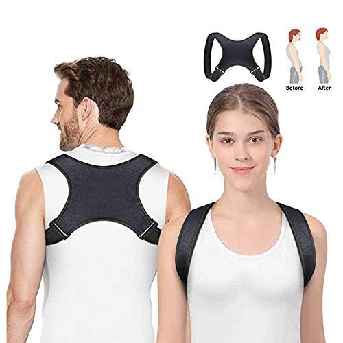 Hanbee Corrector de Postura, Corrector de Postura Espalda y Hombros para Hombre y Mujer, Alivia el Dolor de Espalda, Hombro y Cuello, Ajustable y Cómoda