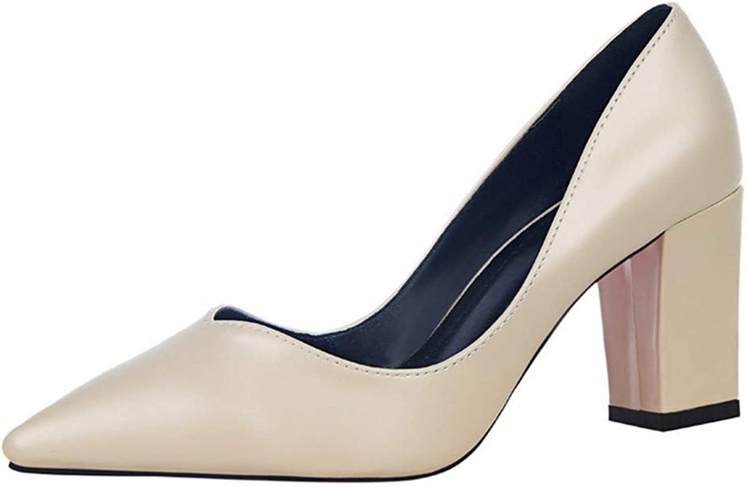 LLBubble Block Heels Pointed Toe Women Pumps Formal Party Dress shoes