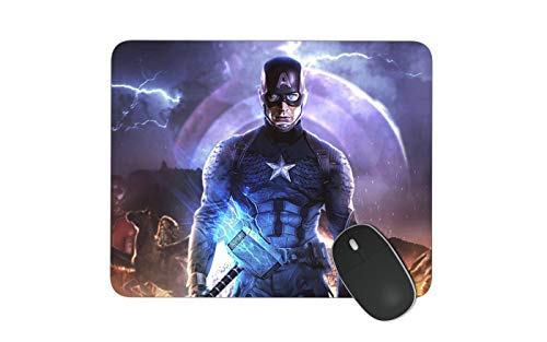 JNKPOAI Captain America Mouse Pad Non-Slip Square Mouse Pad for Office Souvenir Mouse Pad for Gife (Captain America)