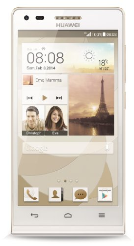 Huawei Ascend P7 mini Smartphone (4,5 Zoll (11,4 cm) Touch-Display, 8 GB Speicher, Android 4.3) weiß