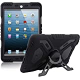 iPad Mini Case for Kids,Y&M Extreme Military Heavy Duty Dust/Shock Proof iPad Mini Case with Kickstand for iPad Mini 1/2/3
