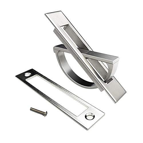 LZWOZ Verborgen deur kast te dragen zinklegering Inbouw Flush Pull Cover Floor Knop Nieuw 2019 deurkrukken (Color : Silver)