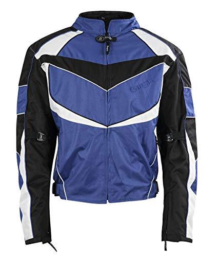 Ledershop-online Bangla sportieve korte motorjas jas Cordura blauw M L XL XXL 3 XL 4 XL